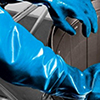 nitrile long glove